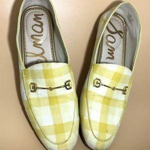 Sam Edelman Loraine Yellow Gingham Loafers